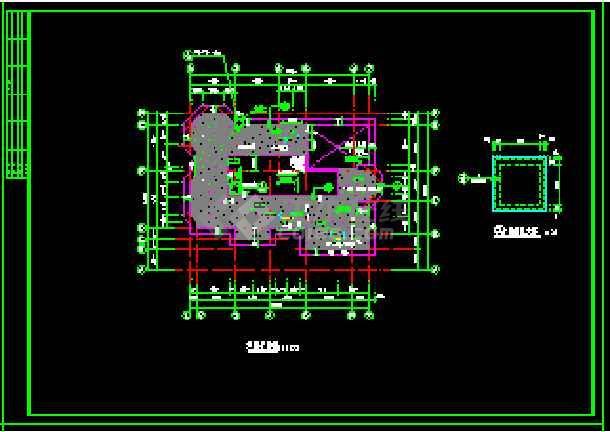 某地多层现代风格经典别墅建筑设计CAD图-图2