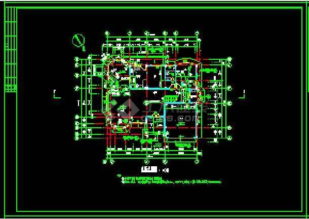 某地多层现代风格经典别墅建筑设计CAD图-图3