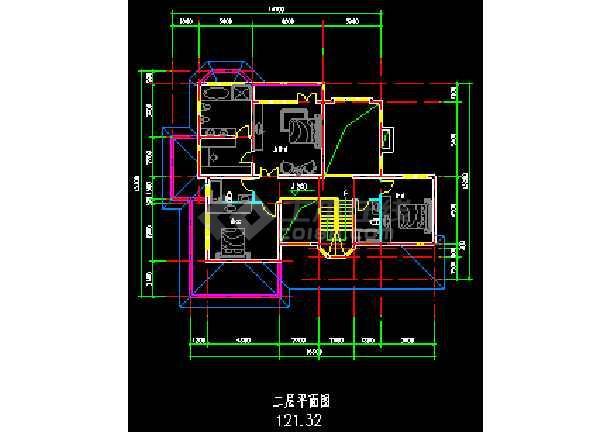 某地多次层小型别墅建筑CAD施工图-图1