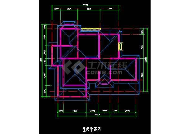 某地多次层小型别墅建筑CAD施工图-图2