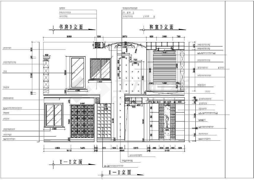 某地商品房建筑施工图(标注详细)