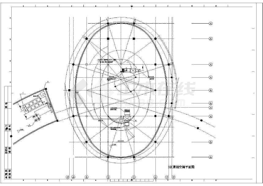 某别墅空调图cad图纸(标注详实)-图1