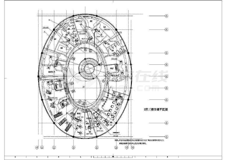 某别墅空调图cad图纸(标注详实)-图2