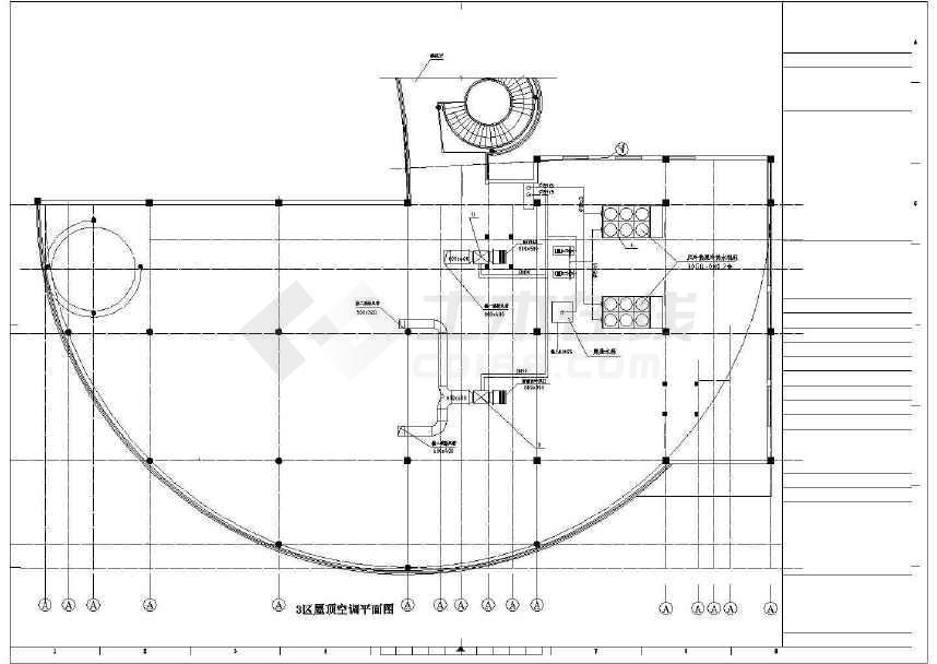 某别墅空调图cad图纸(标注详实)-图3