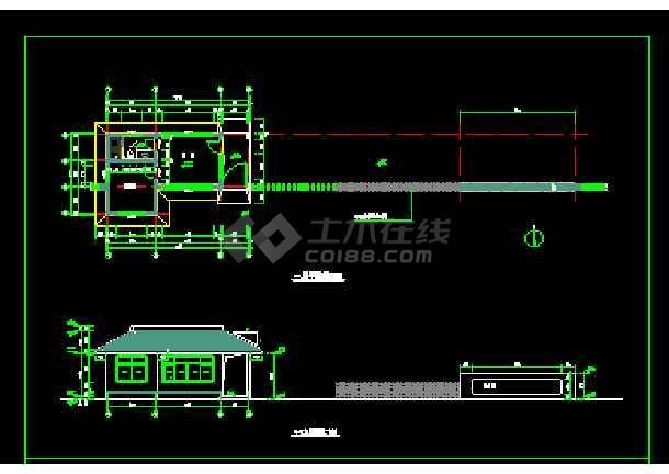 某独栋办公楼cad建筑设计施工图-图1