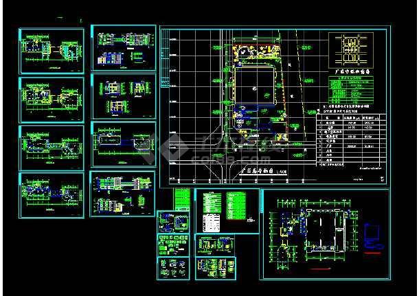 某独栋办公楼cad建筑设计施工图-图3