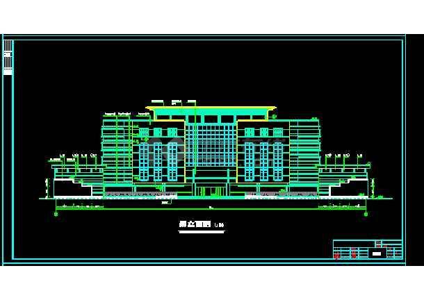 全套综合办公楼建筑cad施工设计图-图3
