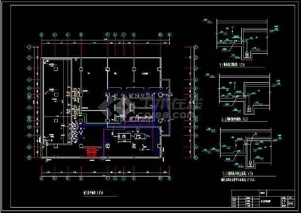 某地高层酒店给排水cad设计全套图(含设计说明)-图1