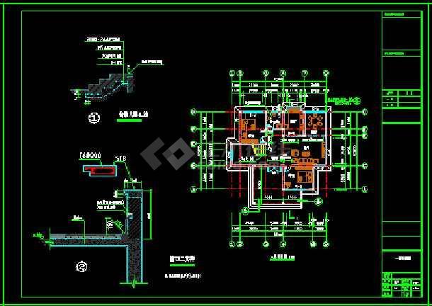 某地小户型经典别墅家装设计cad平面图-图1