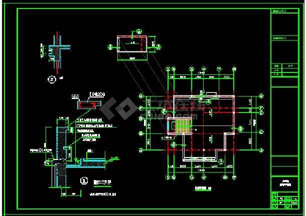 某地小户型经典别墅家装设计cad平面图-图3