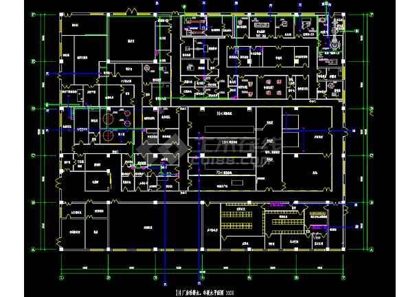 某药业公司车间水暖电施工设计图纸-图1