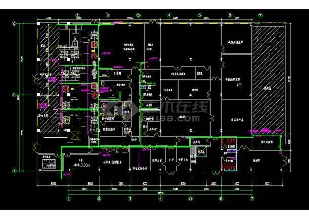 某药业公司车间水暖电施工设计图纸-图2