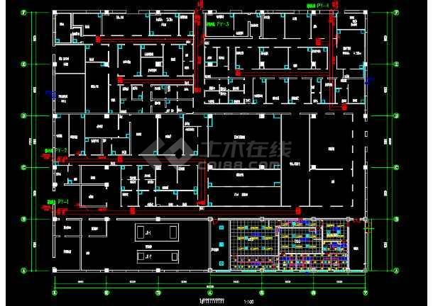 某药业公司车间水暖电施工设计图纸-图3