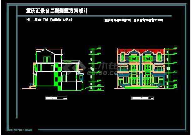 某多层欧式风格别墅建筑设计CAD图-图1