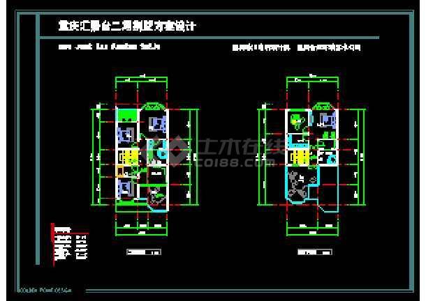 某多层欧式风格别墅建筑设计CAD图-图2
