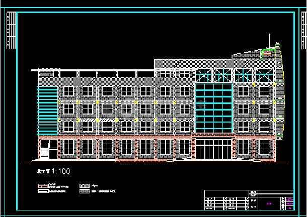 办公楼建筑施工设计全套CAD大样图-图2
