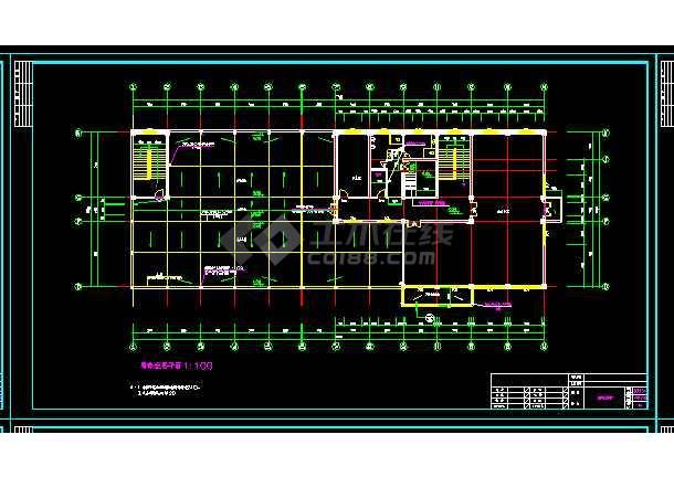 办公楼建筑施工设计全套CAD大样图-图3