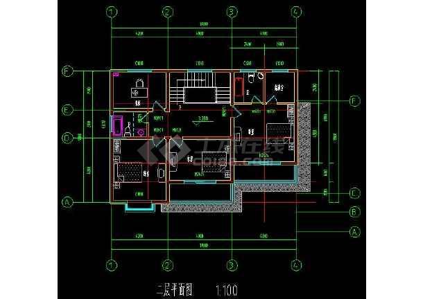 某地乡村住宅别墅建筑设计cad方案图附带效果图-图2