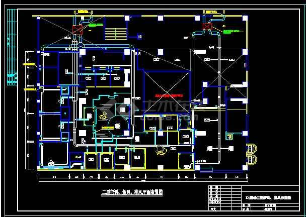 西安某粤菜酒楼VRV空调系统设计图纸-图1