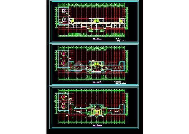 市政府综合大楼cad平立面施工设计图-图3