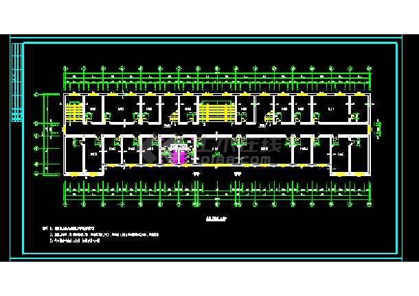 经典四层办公楼cad施工图效果图-图2