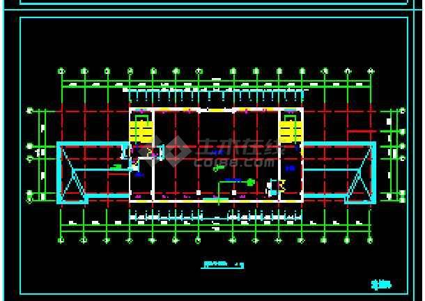 经典四层办公楼cad建筑施工图(顶层含坡屋顶)-图1