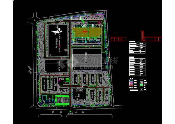 光电厂区配电系统图设计CAD图纸-图3