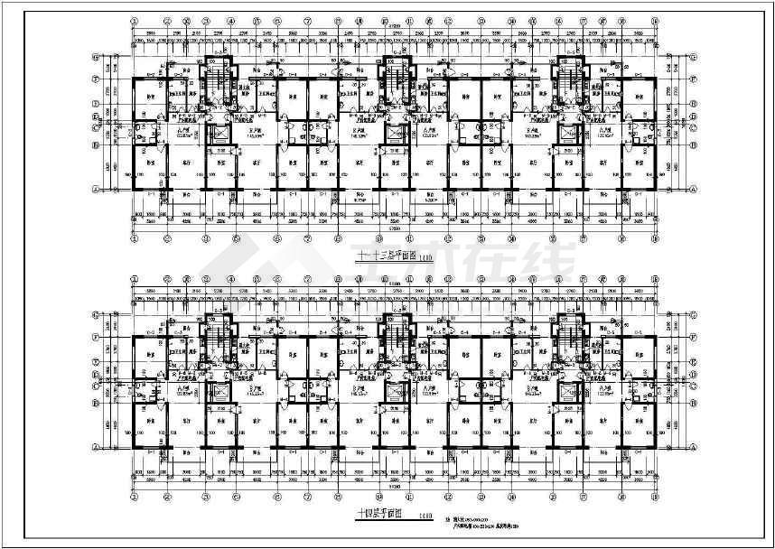 比较详细的短肢剪力墙小高层住宅图纸(含设计说明)-图1