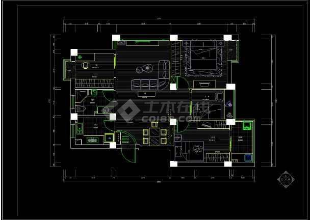 某大三v平面宅室内装修设计cad平面内容cad复制怎么办图纸不了图纸图片