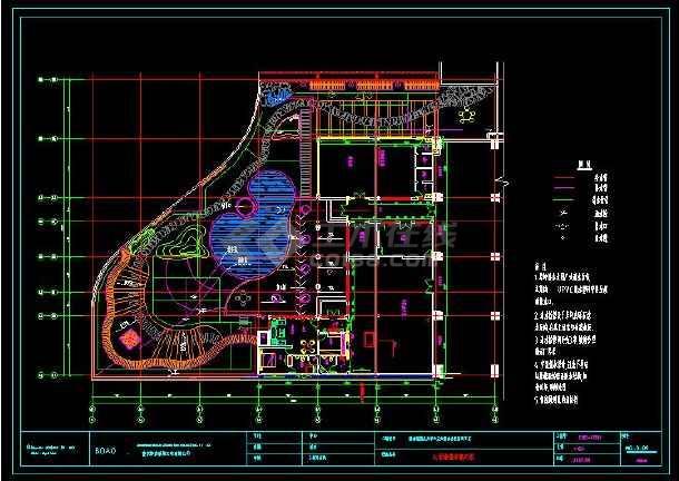 某地精典中式家装cad给排水施工图-图3