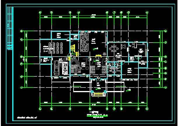 某两层独立别墅CAD建筑方案设计图-图1