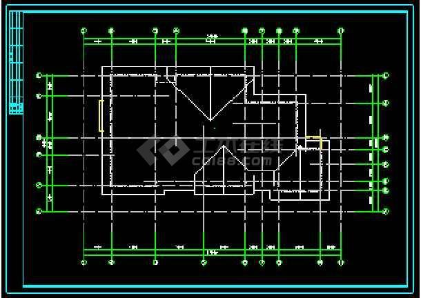某两层独立别墅CAD建筑方案设计图-图3
