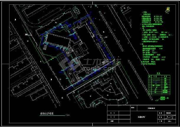 带地下室宾馆给排水全套cad设计图-图1