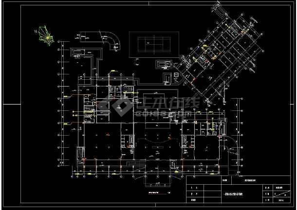 带地下室宾馆给排水全套cad设计图-图3