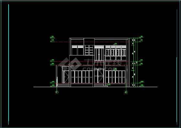 某地多层现代别墅建筑设计cad方案图-图1