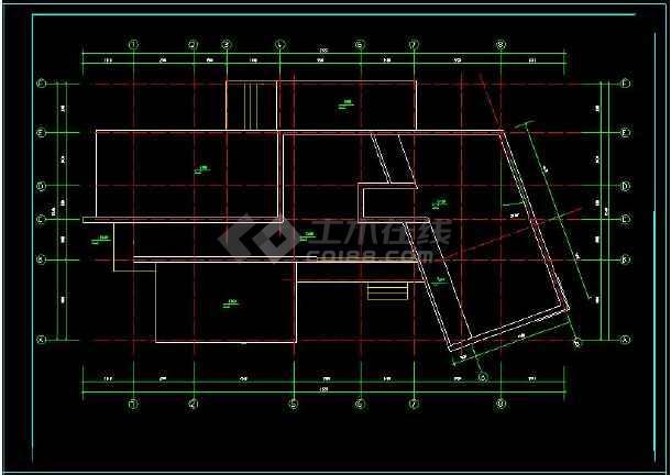 某地多层现代别墅建筑设计cad方案图-图2
