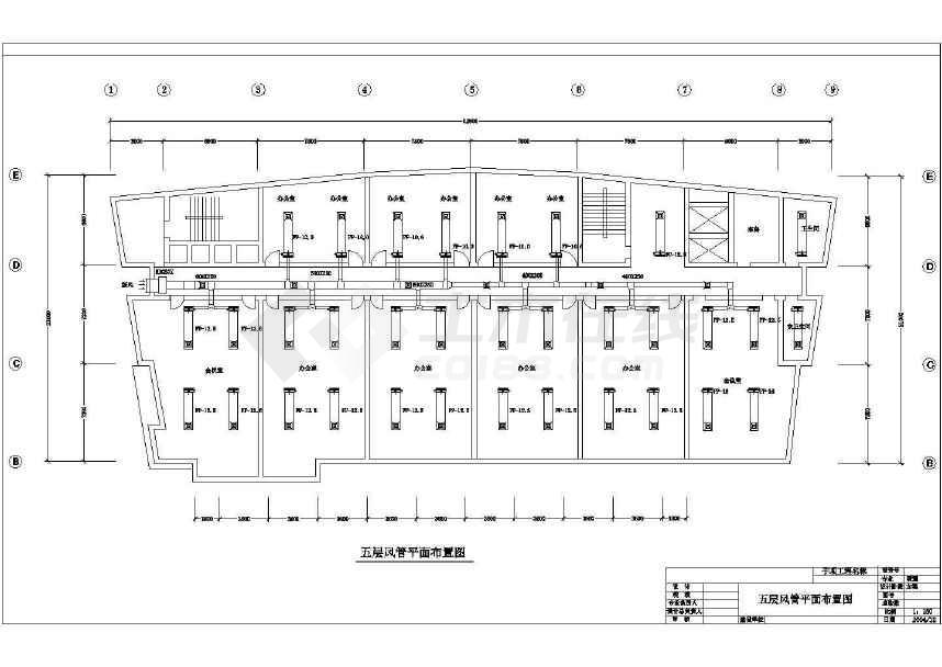 某详细的艺术大厦空调设计方案图纸-图1