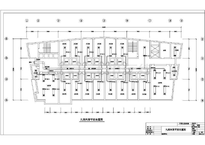 某详细的艺术大厦空调设计方案图纸-图3