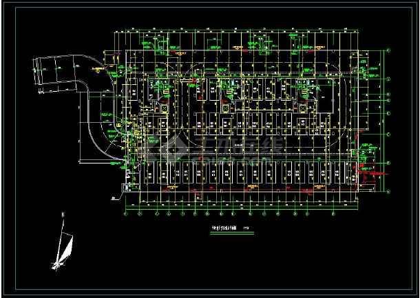 某地高层住宅建筑给排水cad设计施工图(含设计说明)-图2