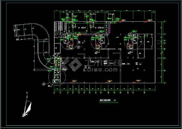某地高层住宅建筑给排水cad设计施工图(含设计说明)-图3