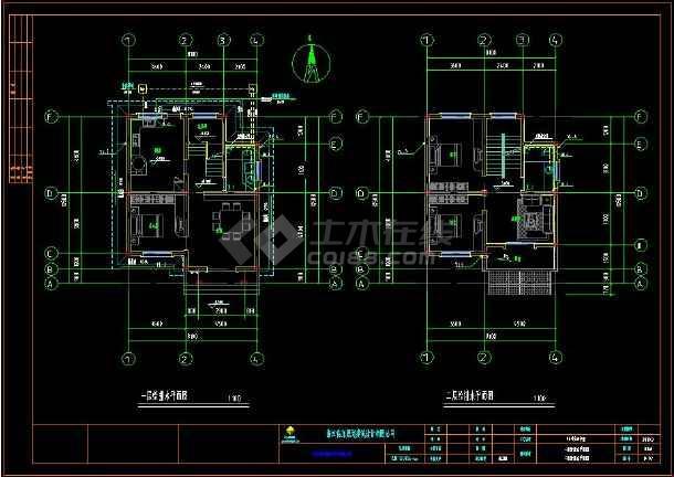某住宅区别墅建筑给排水CAD设计施工图(含设计说明)-图1