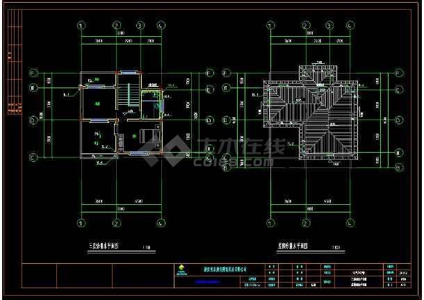 某住宅区别墅建筑给排水CAD设计施工图(含设计说明)-图2