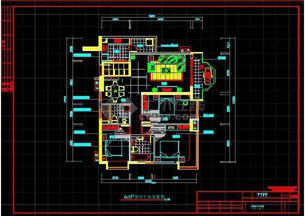 某珠江广场完整电气设计施工CAD图纸-图1