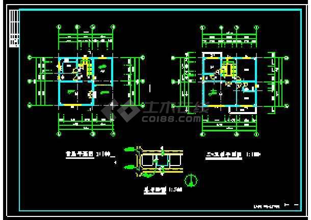 某地多层独立别墅经典建筑设计cad图-图1