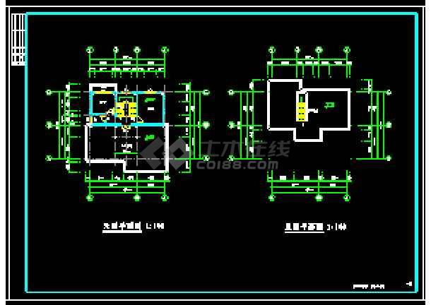 某地多层独立别墅经典建筑设计cad图-图2