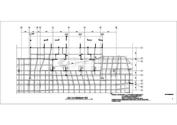 地下室与主楼交接处裂缝处理CAD图纸-图1