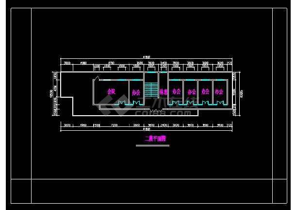 岱山商铺、办公楼建筑设计施工全套CAD图-图1