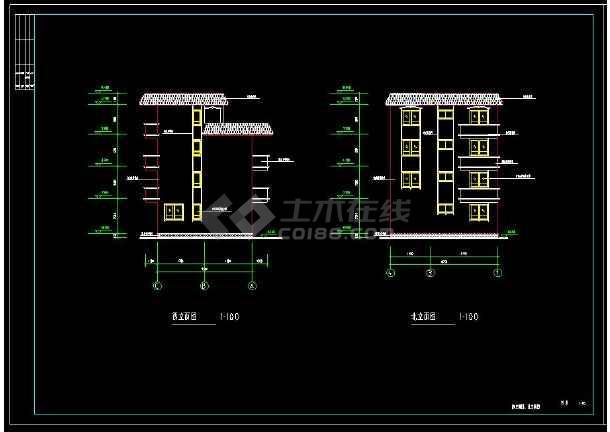 某地三层住宅别墅建筑设计cad施工图附带效果图-图2