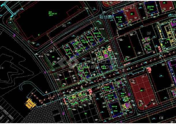 上海世博会给排水和消防管线cad设计平面图-图1