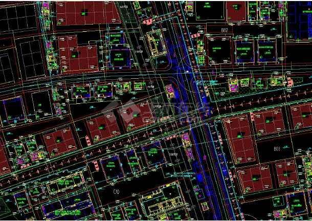 上海世博会给排水和消防管线cad设计平面图-图2